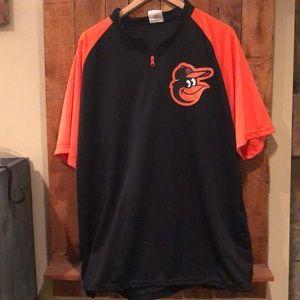 Baltimore Orioles SS BP 1/2 zip jacket. XL